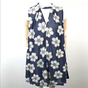 Dainty Hooligan Patchwork Floral Keyhole tunic